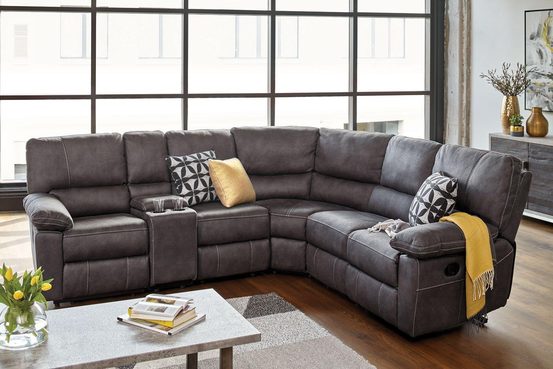 Orion Fabric Corner Recliner Lounge Suite | Harvey Norman New Zealand