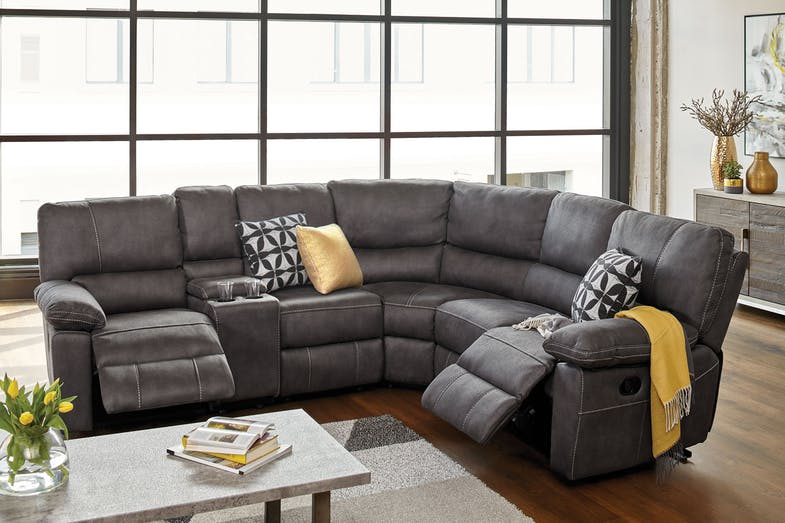 Orion Fabric Corner Recliner Lounge Suite