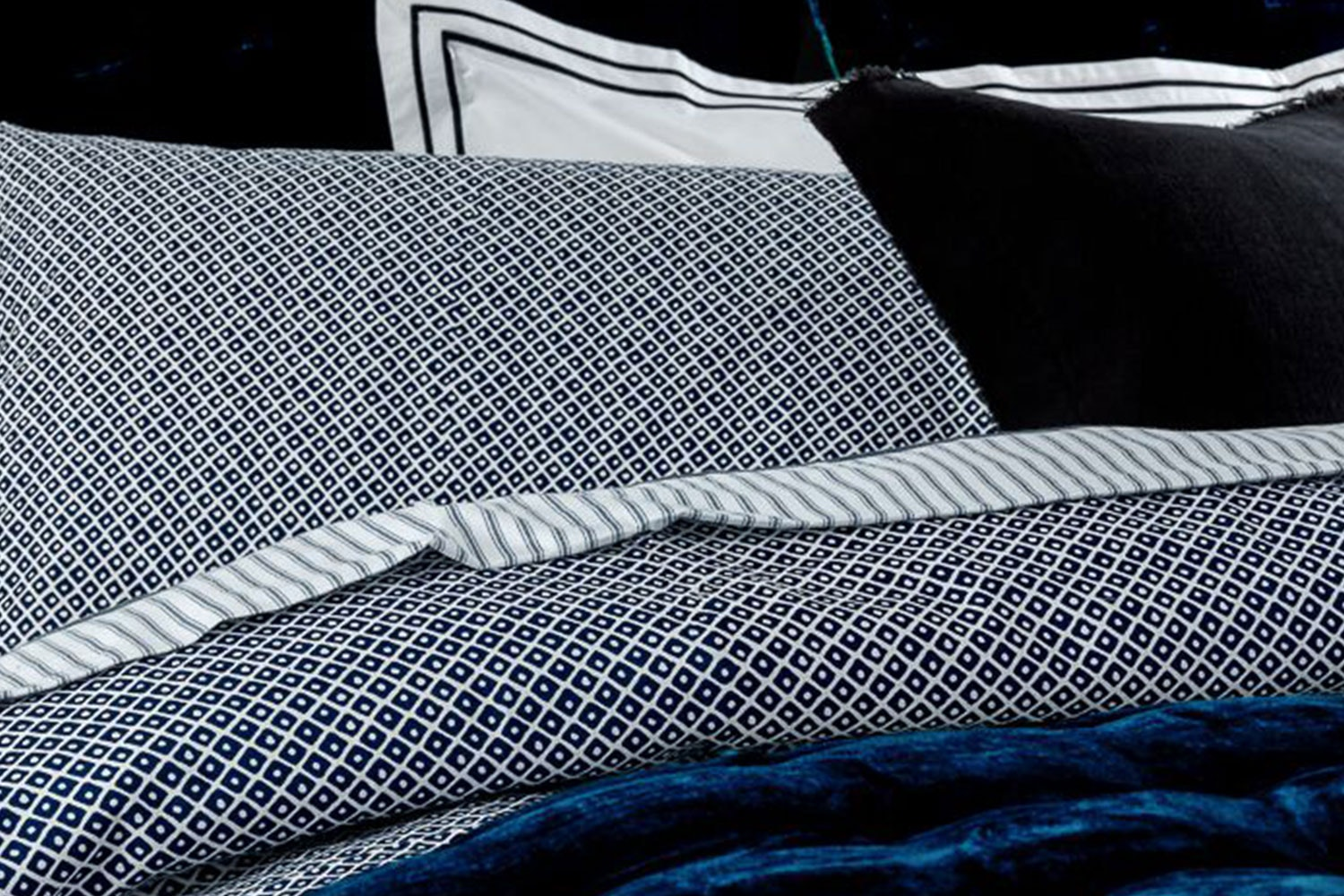 Watervale Ink Duvet Cover Set by Seneca