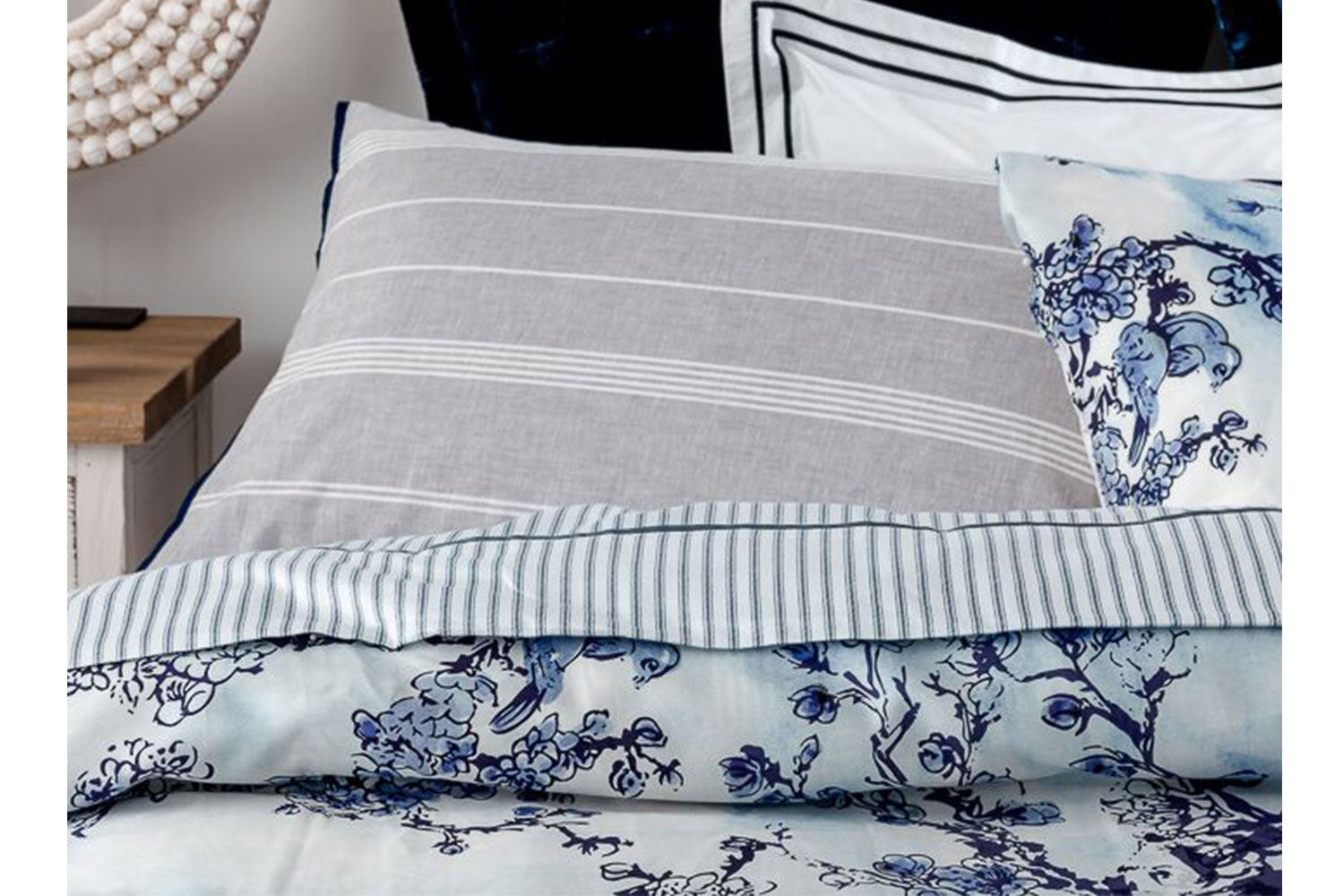 Willow Ink Duvet Cover Set by Seneca