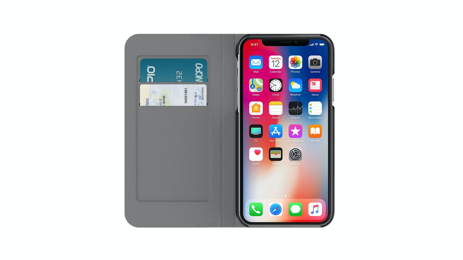 af87f93a0d5 Incipio Carnaby Folio Esquire Series Case for iPhone X
