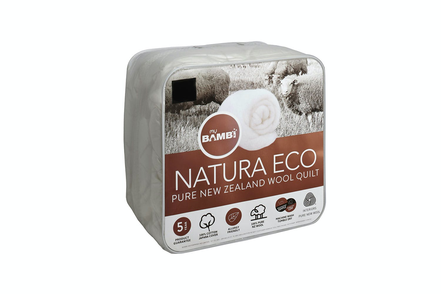 Image of Natura Eco NZ Wool 500gsm Duvet Inner by Bambi