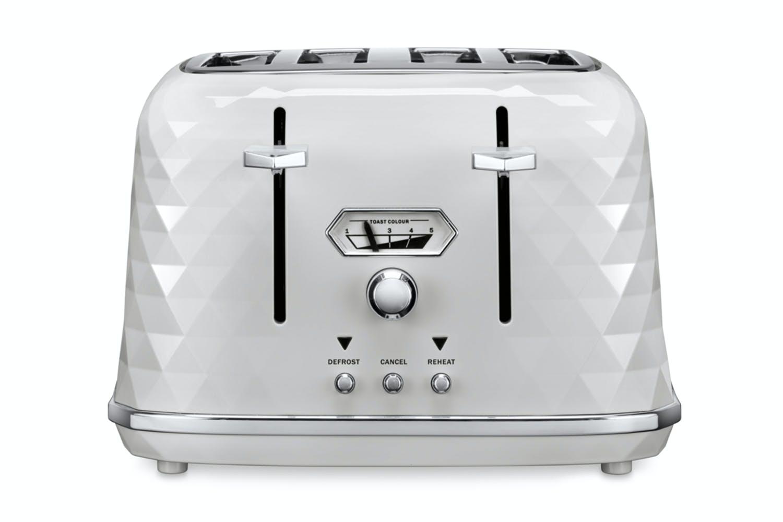 DeLonghi Brilliante 4 Slice Toaster - White