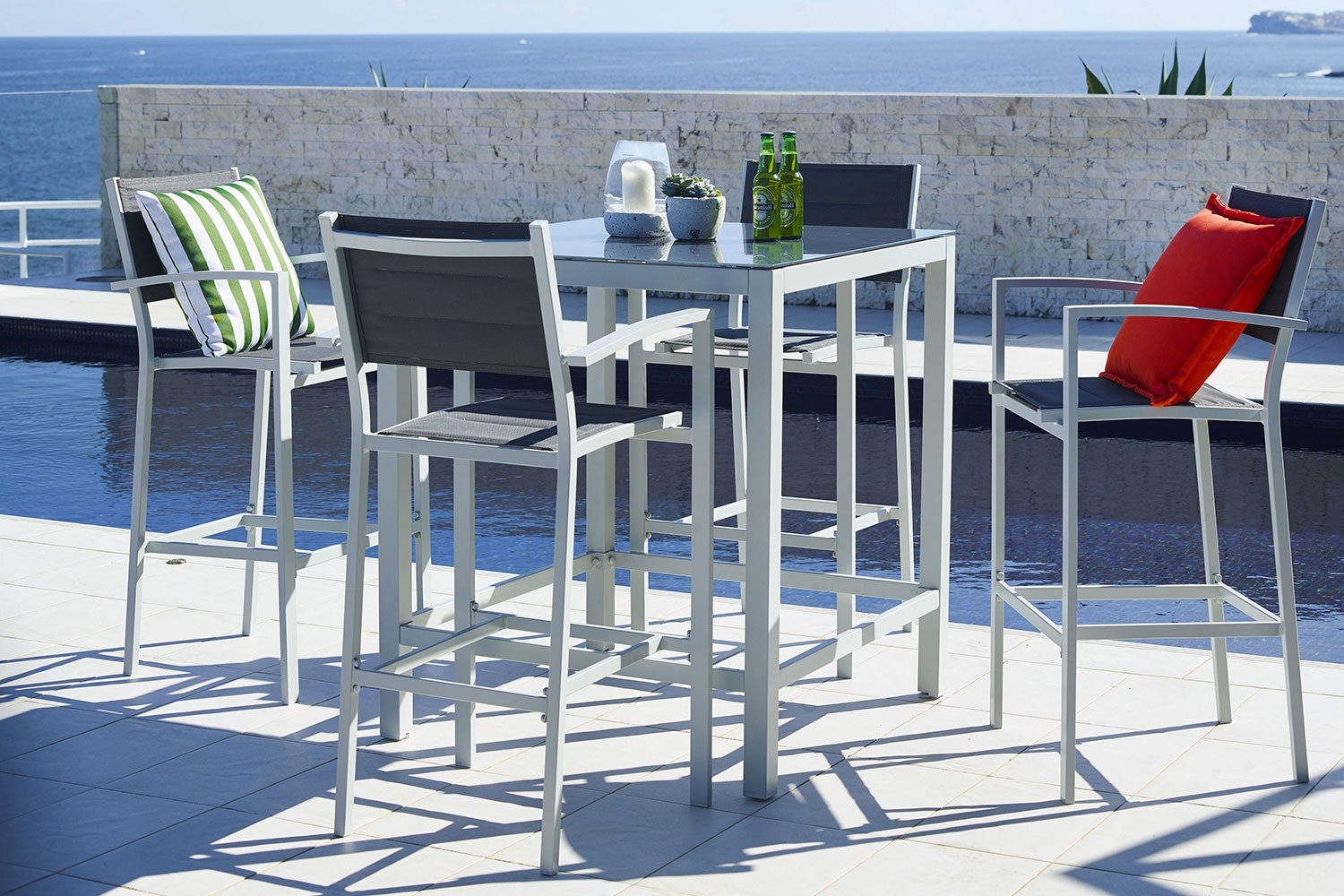 Kirra 5 Piece Outdoor Bar Setting