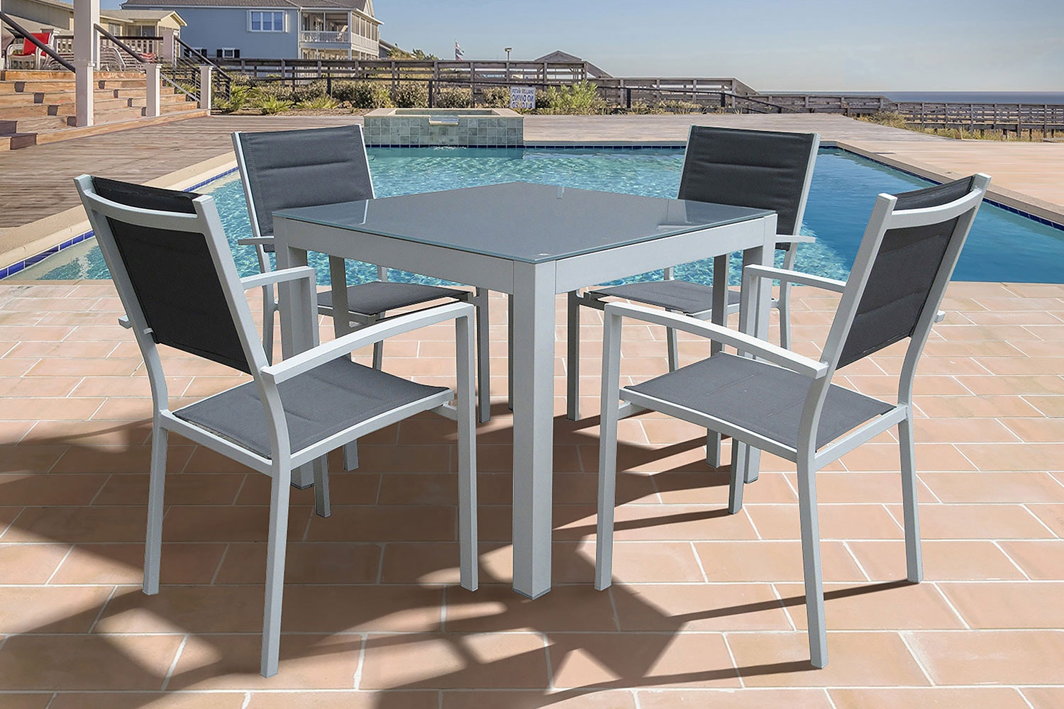 Kirra 5 Piece Outdoor Dining Setting