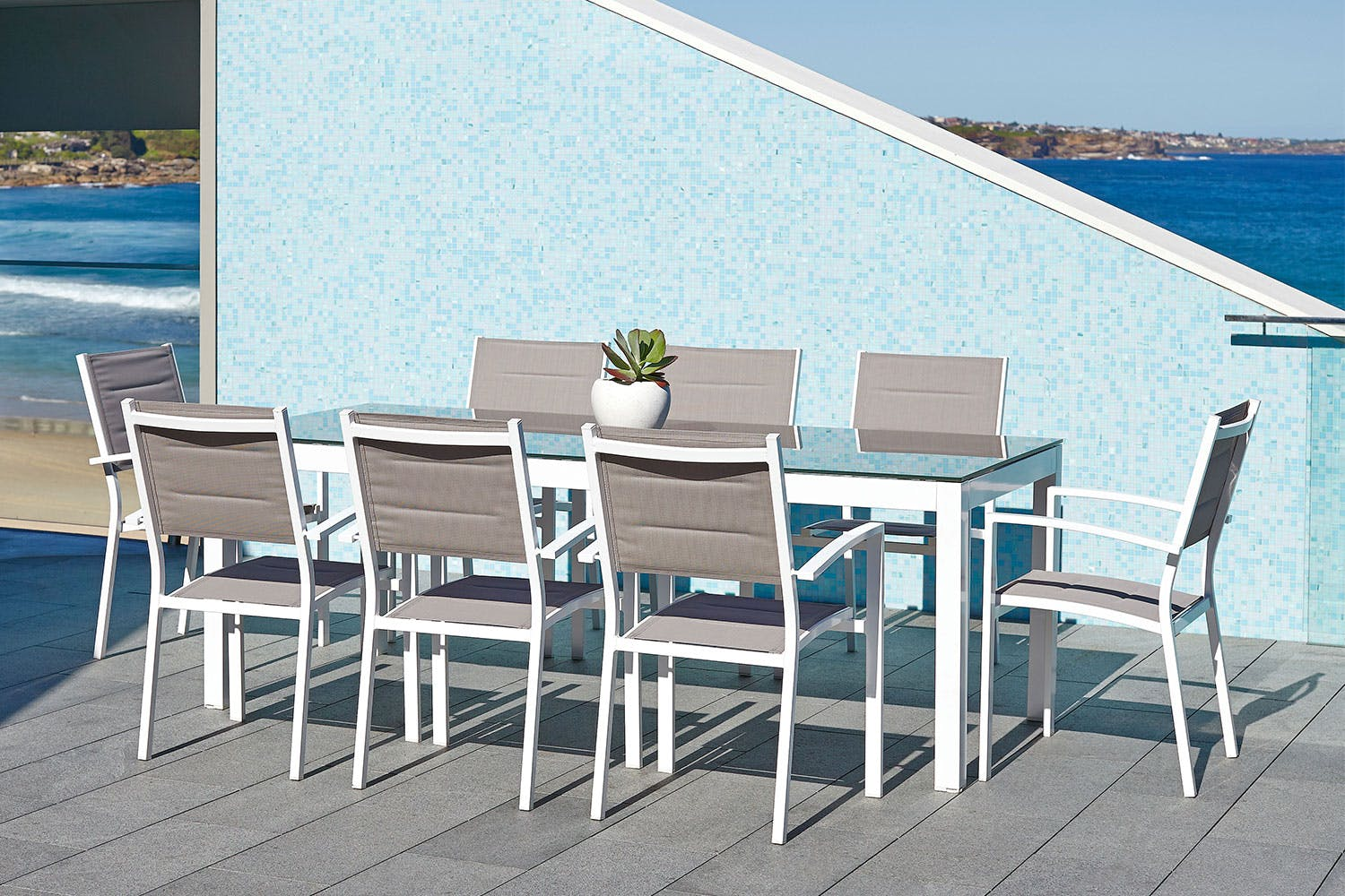 Kirra 9 piece outdoor dining setting harvey norman new zealand