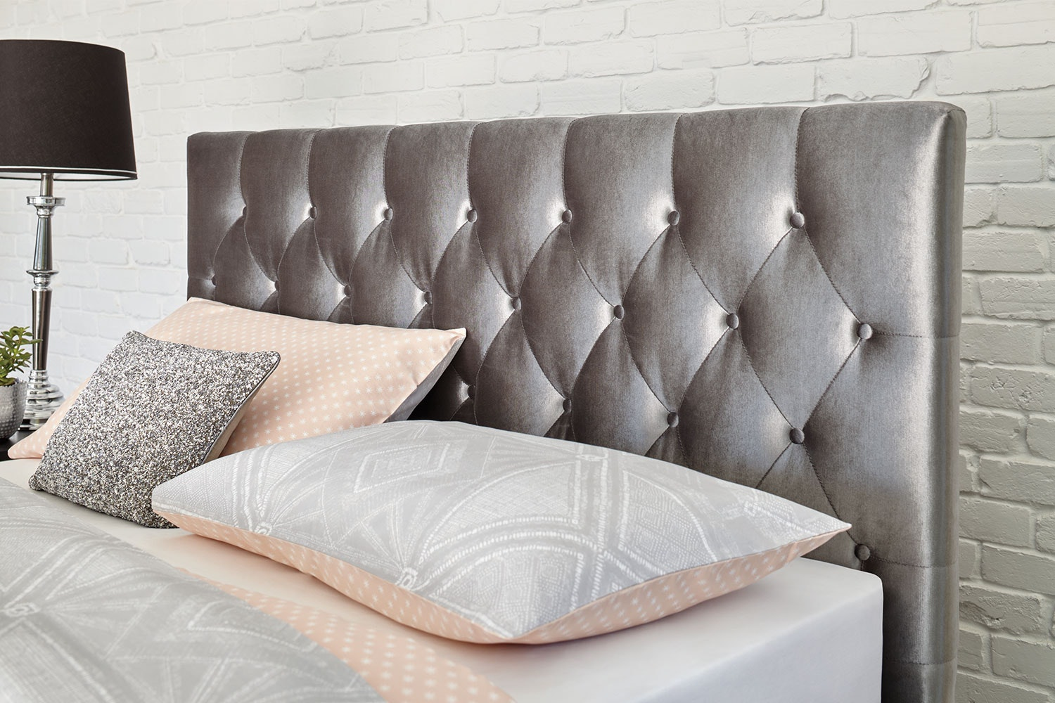 Capri Silver Queen Headboard  by Nero Furniture