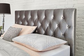 Capri Silver Super King Headboard by Nero Furniture