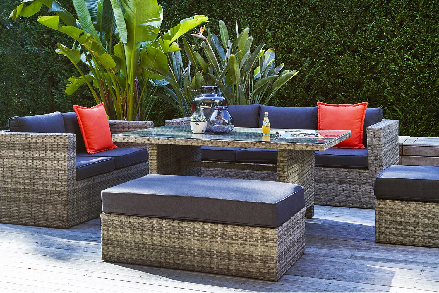 Valletta 5 piece outdoor lounge dining setting harvey norman new zealand