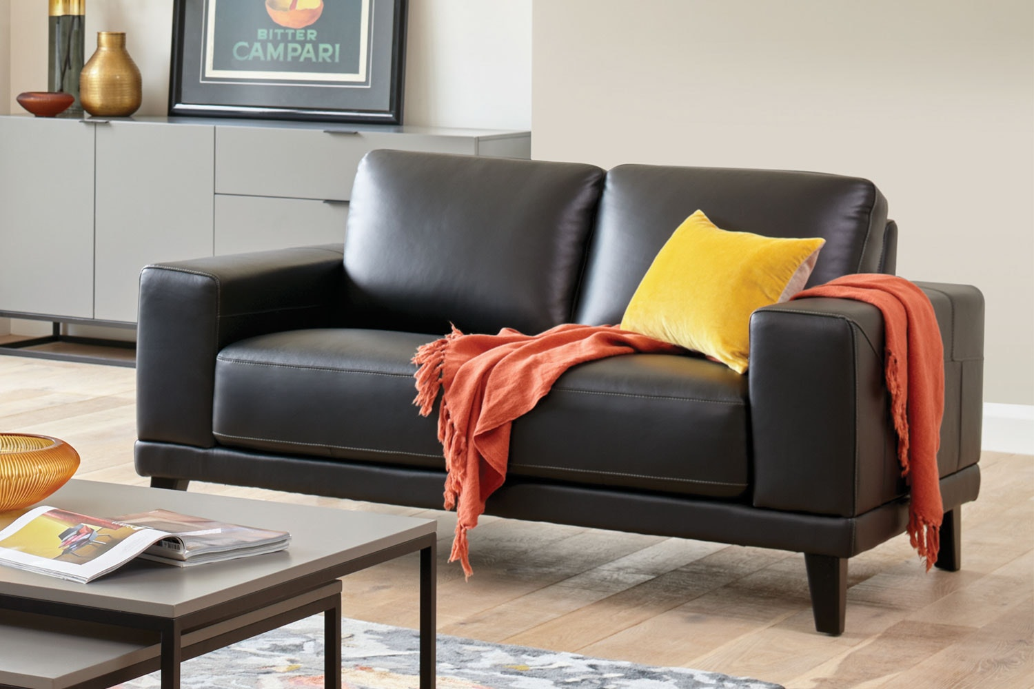 Aries 2 Seater Leather Sofa