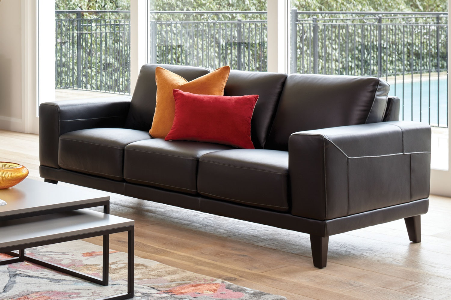 Aries 3 Seater Leather Sofa