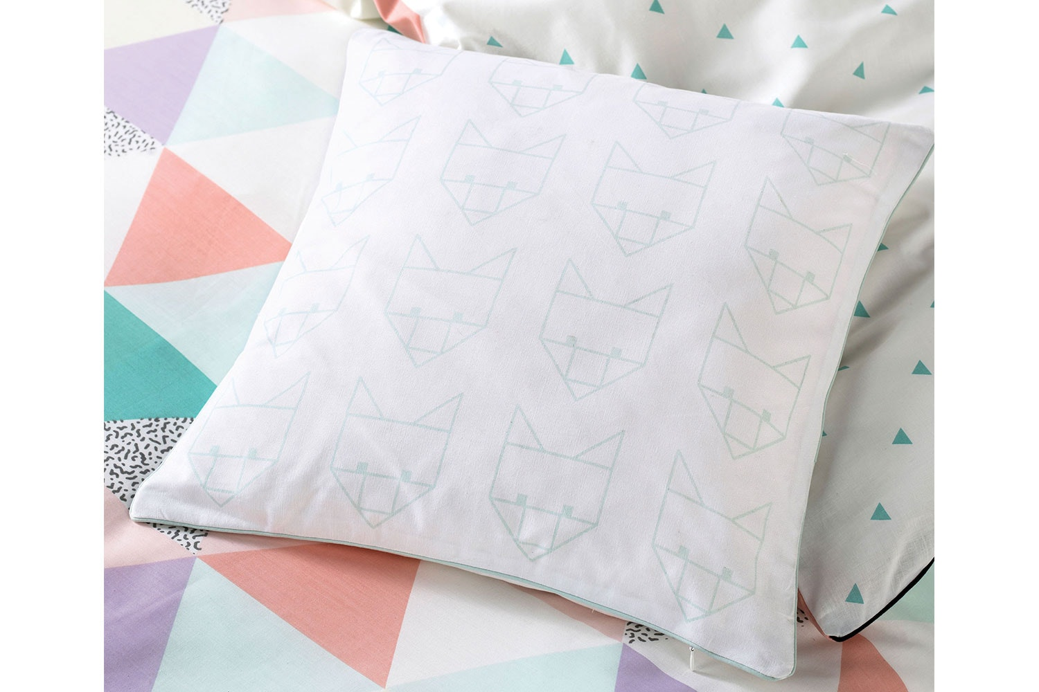 Astrid Fox Square Cushion by Squiggles