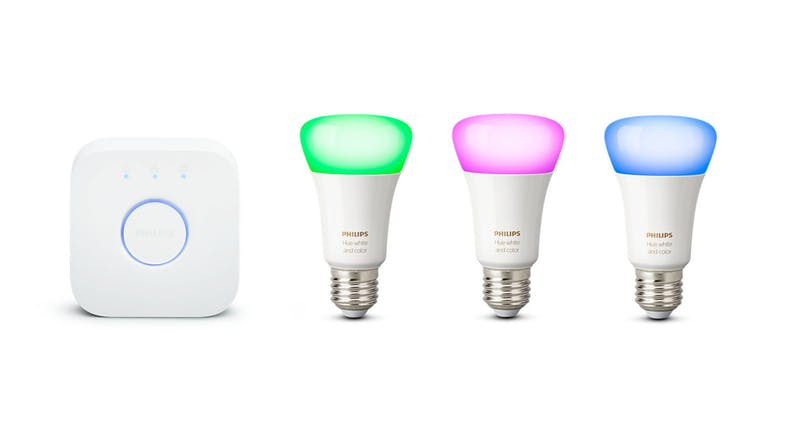 Philips Hue White and Colour Ambiance E27 Starter Kit
