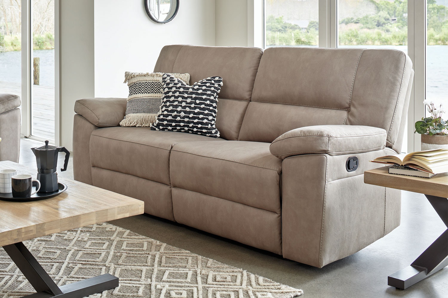 Stone Jenson 2.5 Seater Fabric Sofa by Synargy