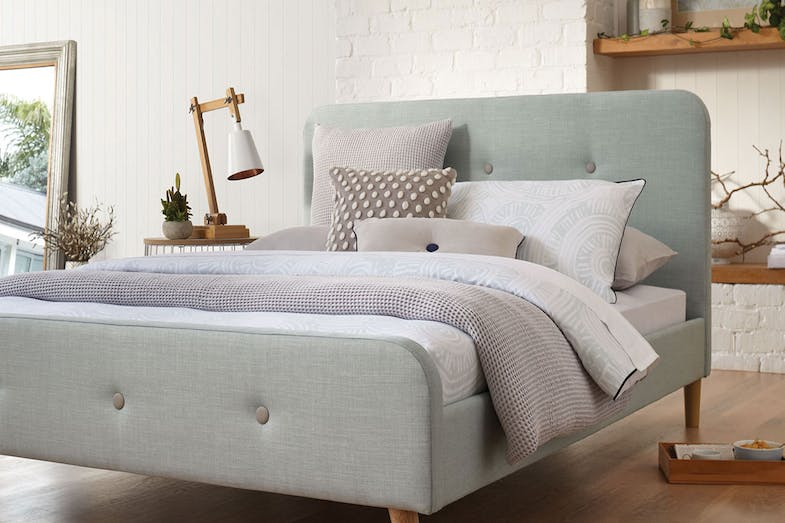 Calypso King Single Bed Frame by Nero Furniture - Grey