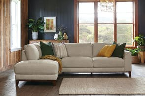 Le Mans 3 Seater Fabric Sofa with Chaise