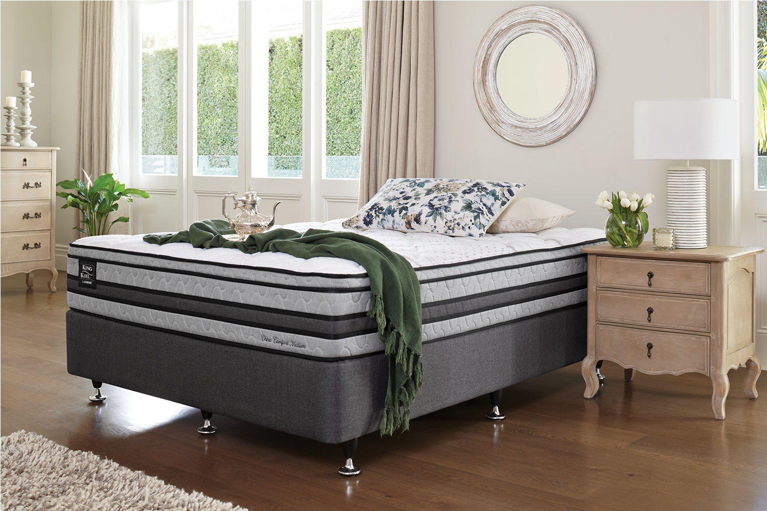 Chiro Comfort Medium Queen Bed by King Koil