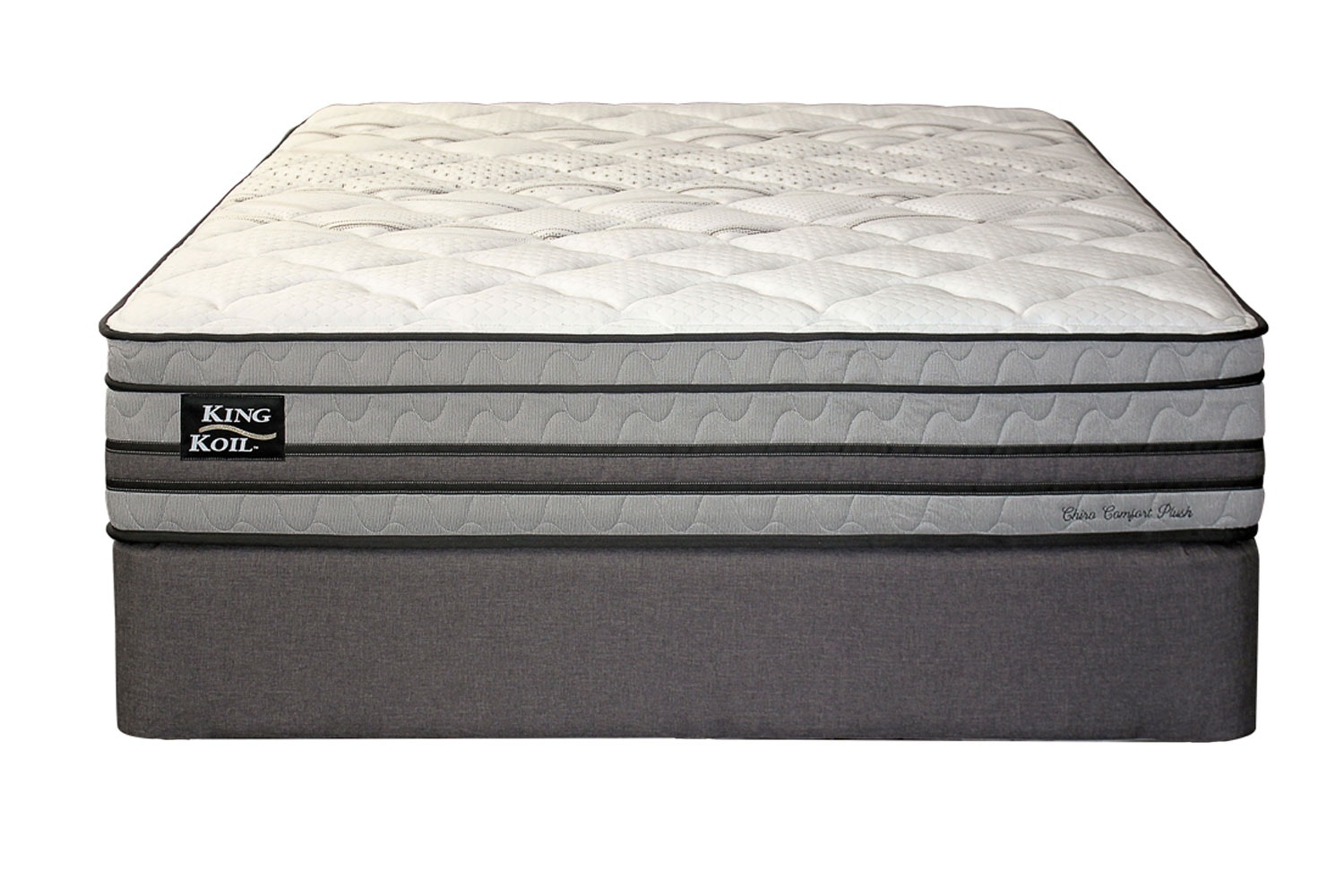 Chiro Comfort Plush Queen Bed by King Koil