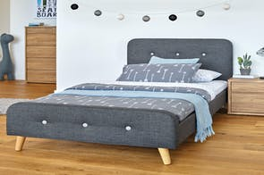 Charcoal Calypso Queen Bed Frame by Nero Furniture