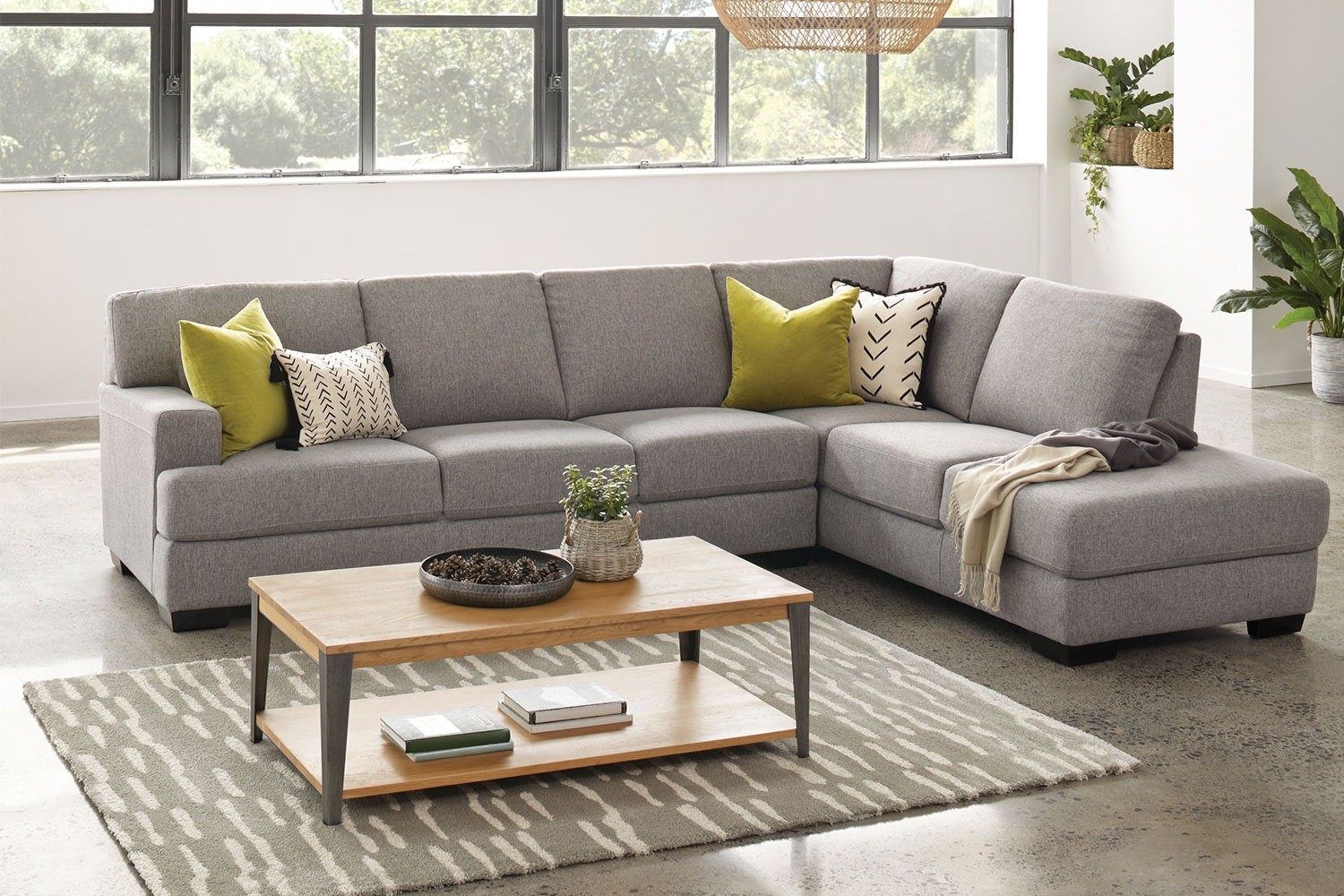 Greystone 4 Seater Fabric Corner Lounge Suite