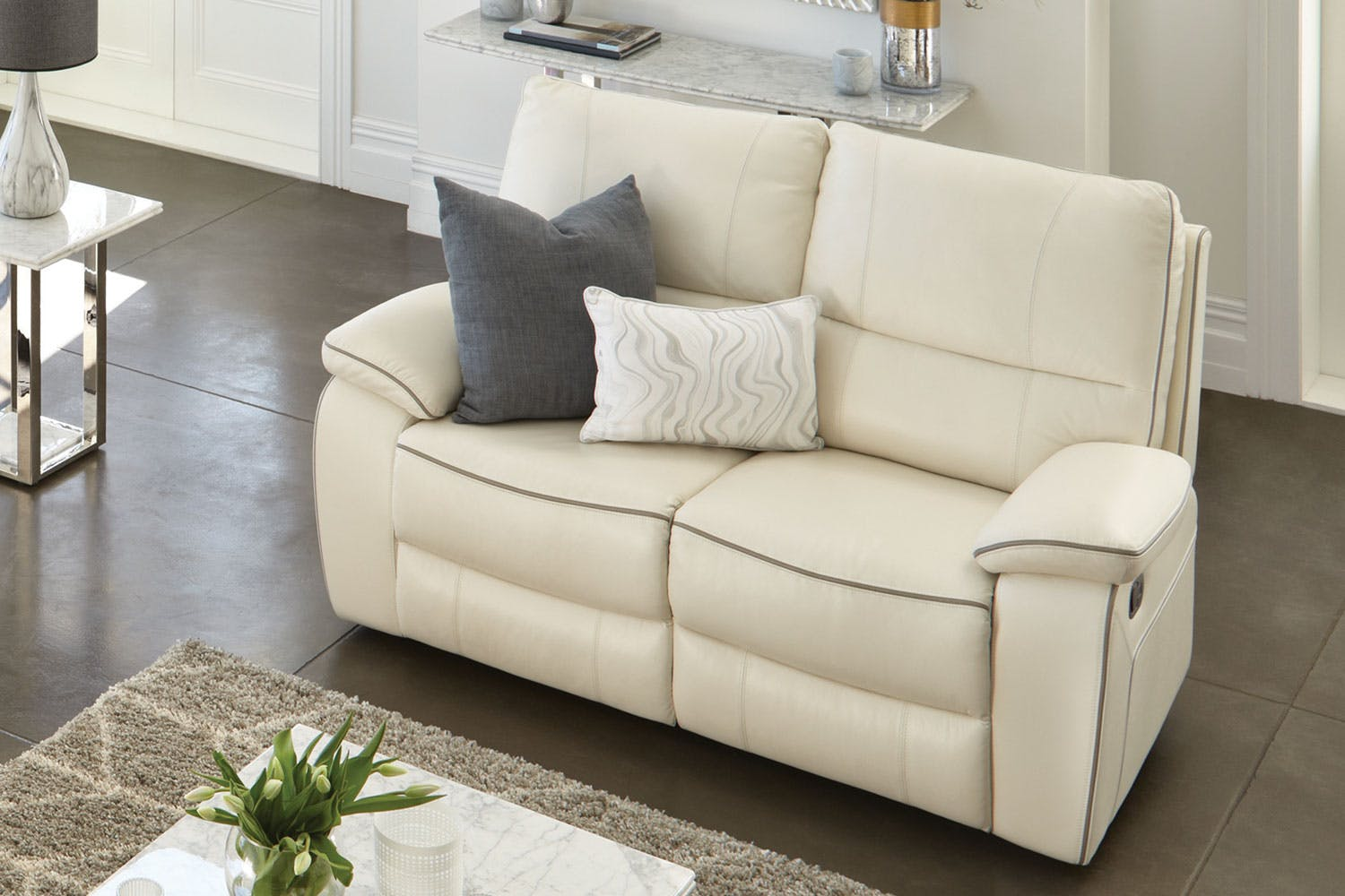 Strata 2 Seater Leather Recliner Sofa by Synargy