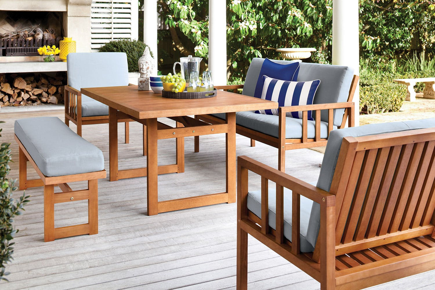 Cuba 5 piece outdoor lounge dining setting harvey norman new zealand