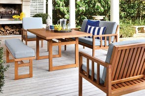 Cuba 5 Piece Outdoor Lounge Dining Setting