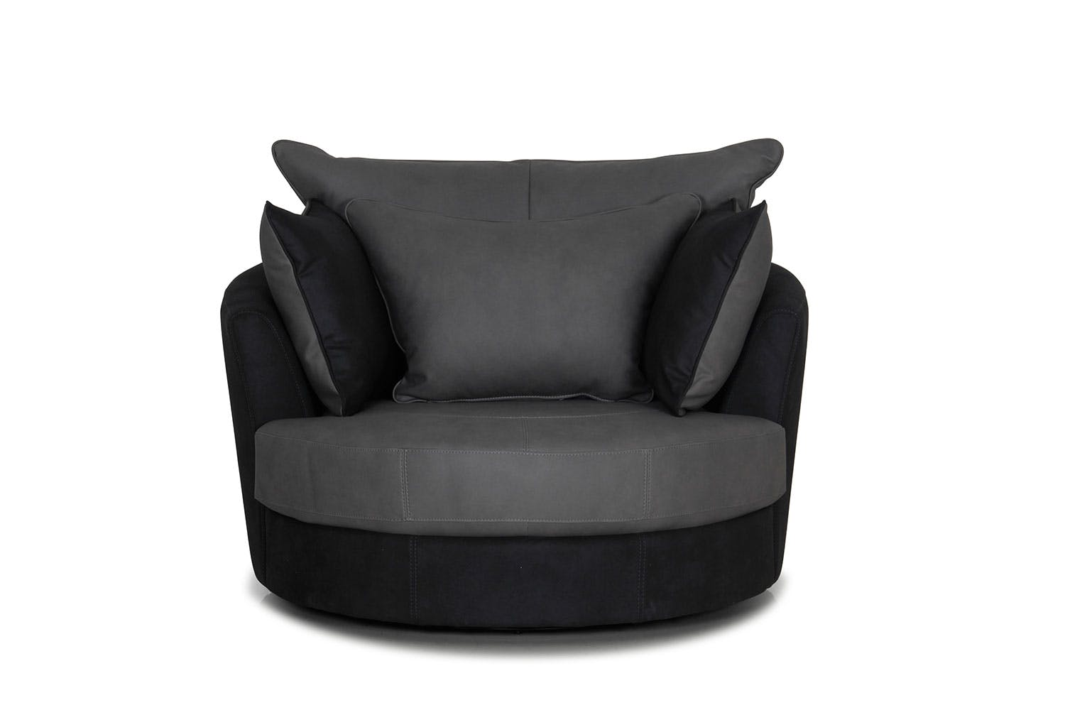 atlas large fabric swivel chair harvey norman new zealand