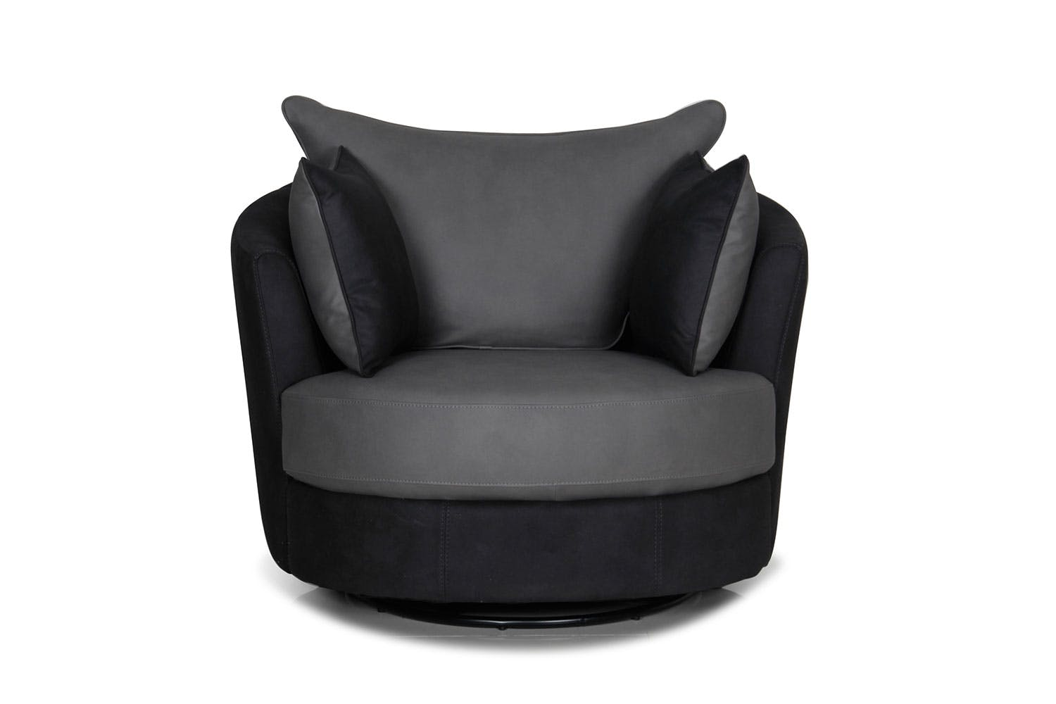 Atlas Small Fabric Swivel Chair