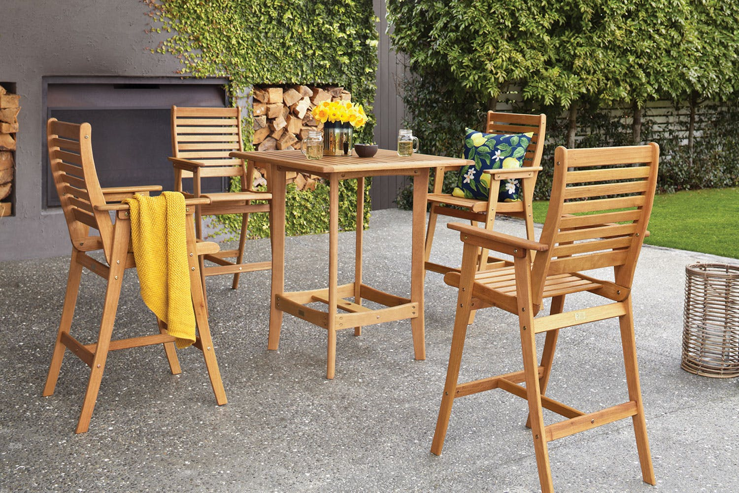 Bali 5 piece outdoor bar setting harvey norman new zealand
