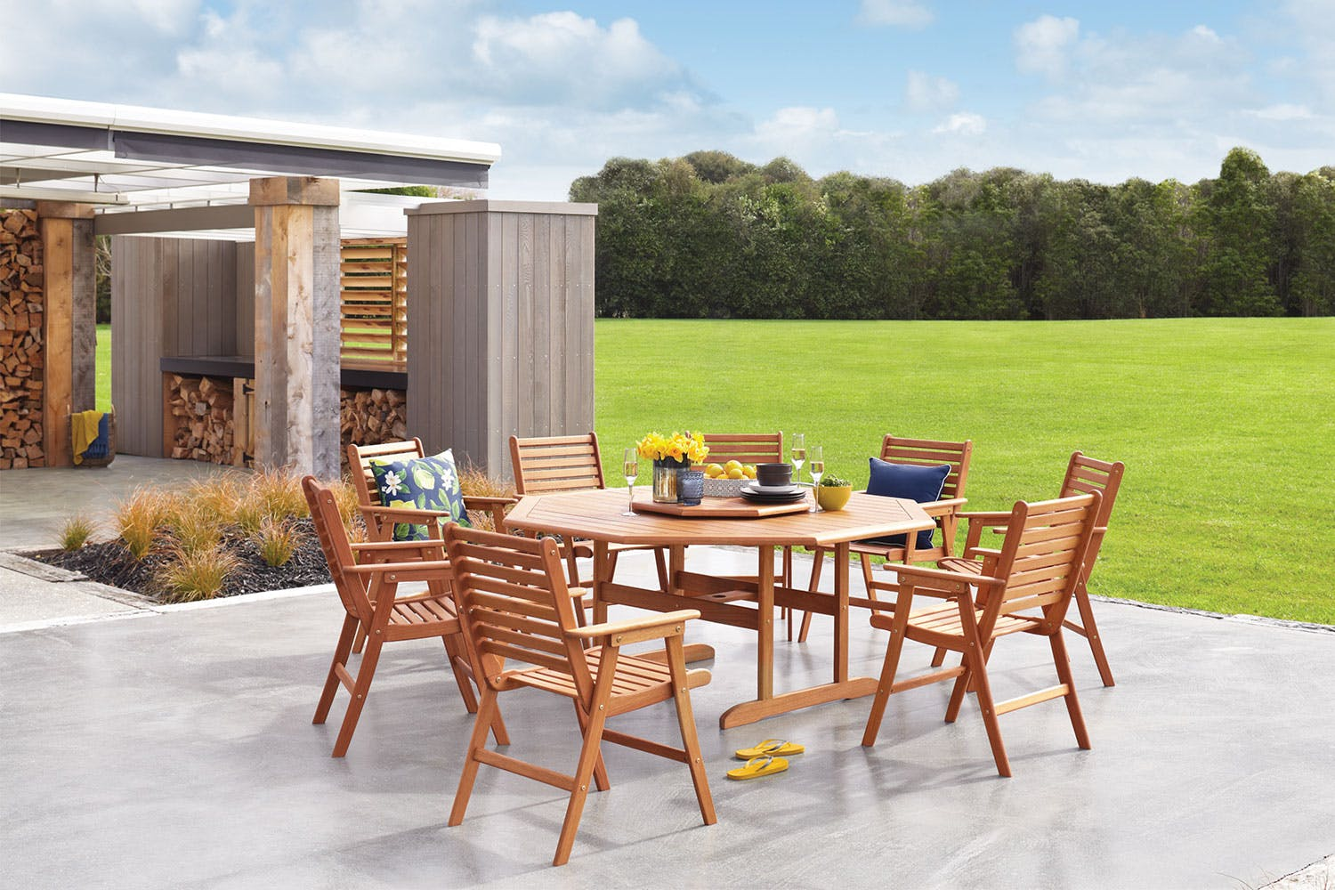 Bali 9 piece outdoor dining setting harvey norman new zealand