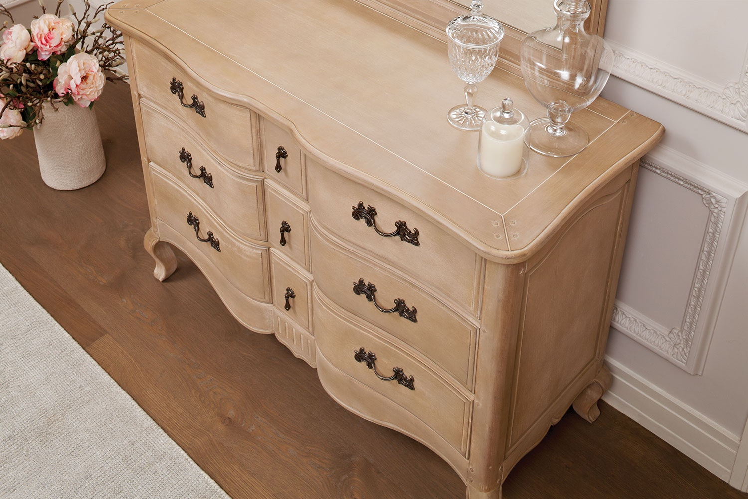 Adele 9 Drawer Dresser and Mirror by Vivin
