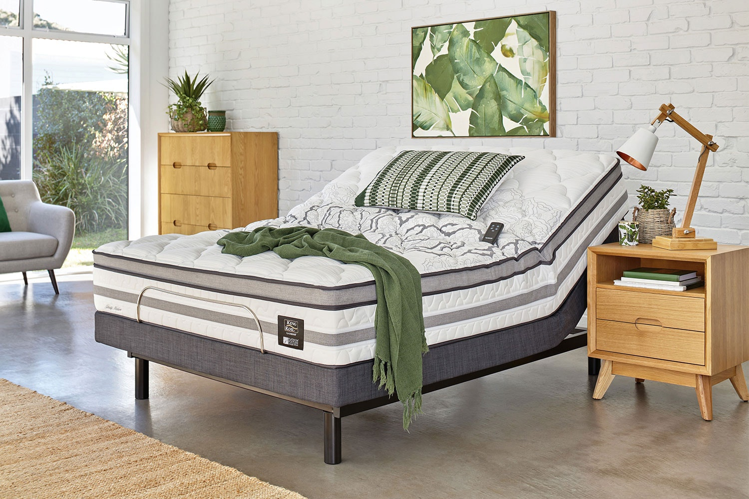 King Koil Eternity Medium Queen Mattress with Lifestyle Adjustable Base by Tempur