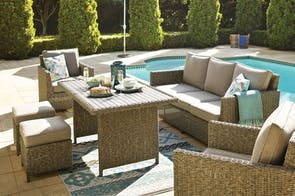 Mercedes 6 Piece Outdoor Low Dining Setting