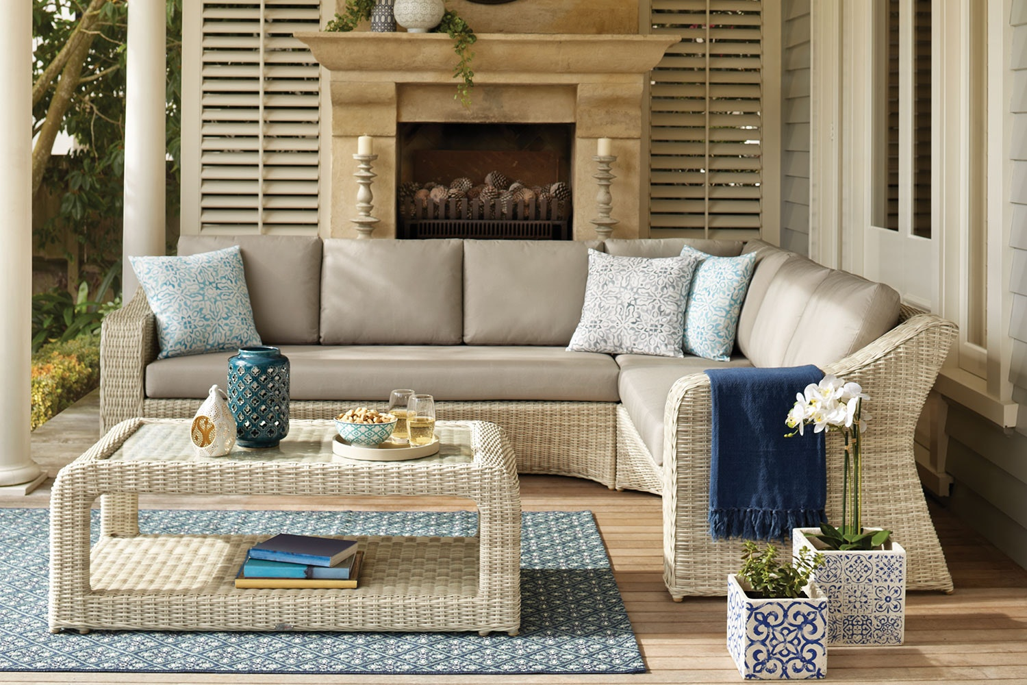 Sicily Outdoor Corner Lounge Setting