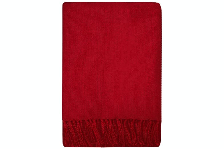 Rhapsody Acrylic Throw by Mulberi - Red