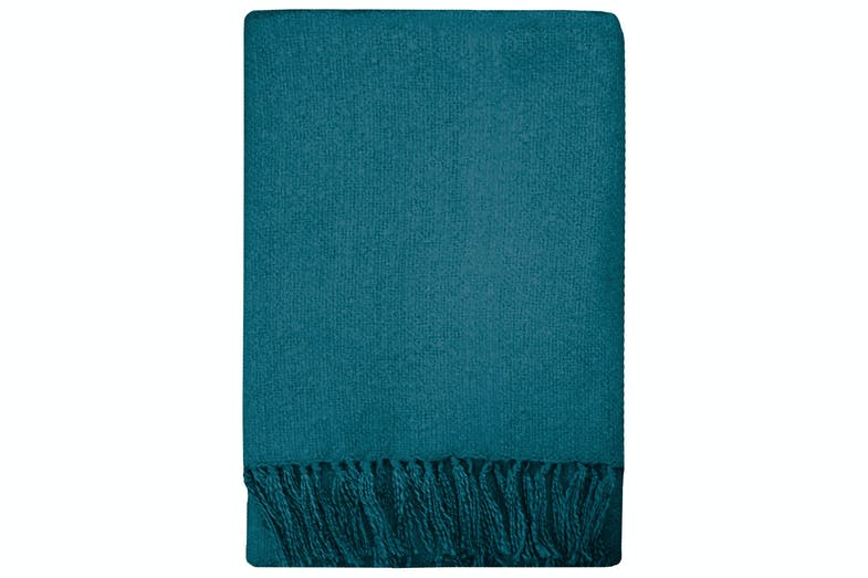 Rhapsody Acrylic Throw by Mulberi - Dusky Teal