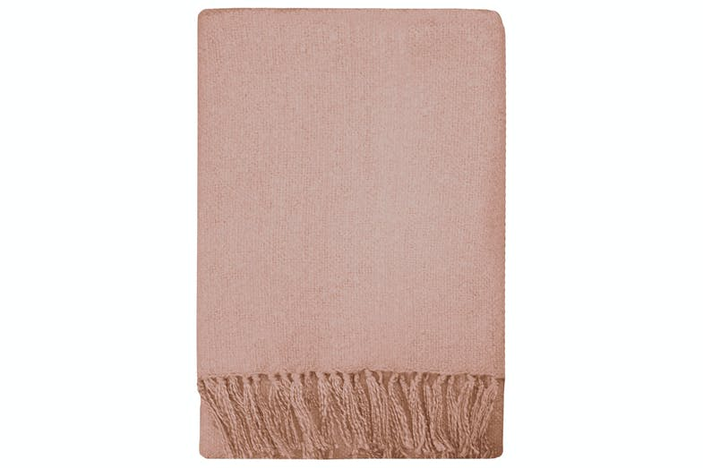 Rhapsody Acrylic Throw by Mulberi - Dusky Pink