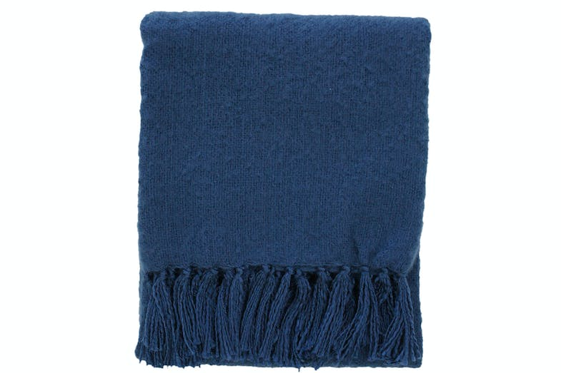 Rhapsody Acrylic Throw by Mulberi - Ink Blue
