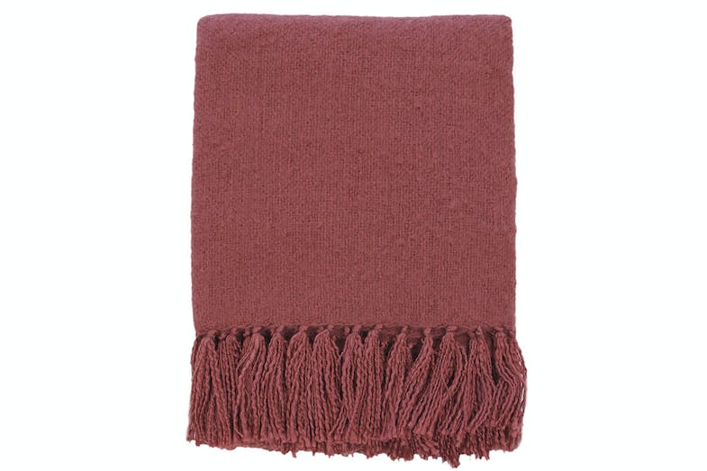 Rhapsody Acrylic Throw by Mulberi - Burnt Marsala