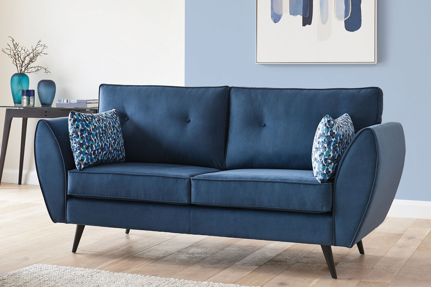 Euro 3 Seater Fabric Sofa by White Rose Furniture