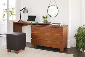 Riverwood 4 Drawer Dresser & Desk by Sorensen Furniture