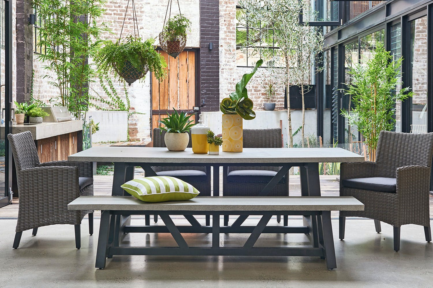 Suva 6 piece outdoor dining setting harvey norman new zealand
