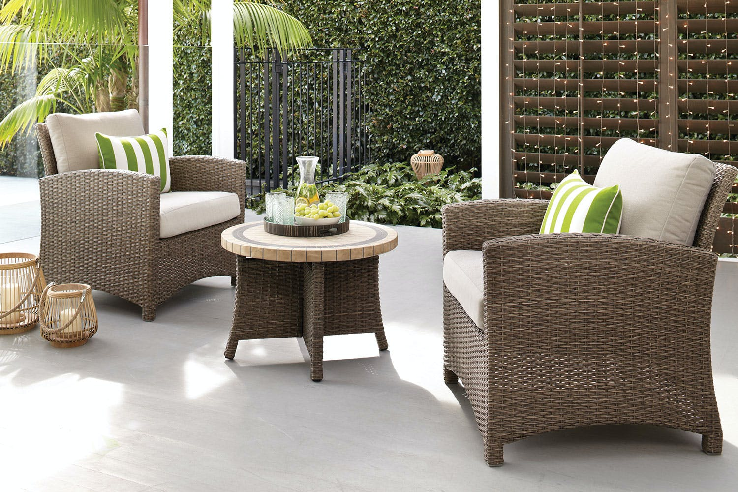 Capri 3 piece outdoor lounge setting harvey norman new zealand