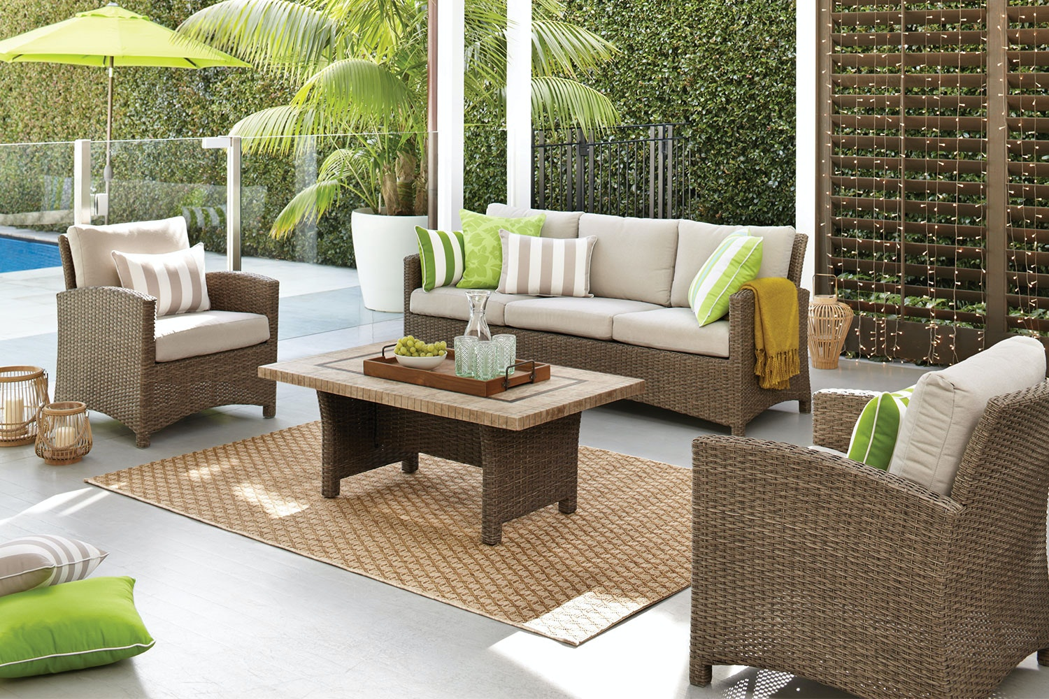 Capri 4 Piece Outdoor Lounge Setting