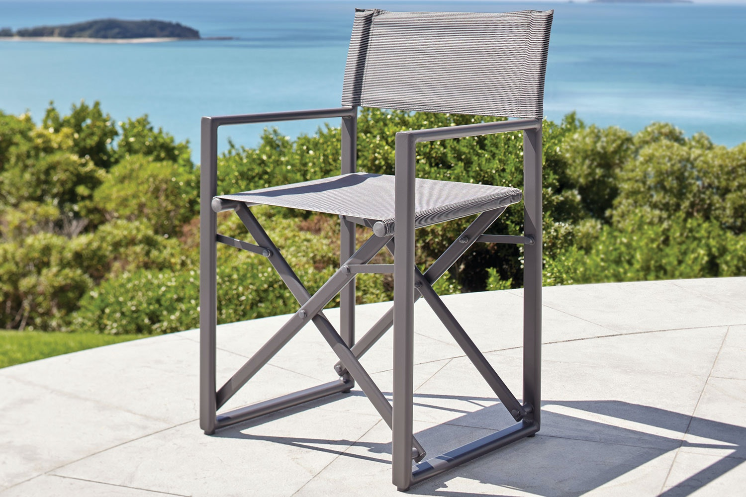 Directors Outdoor Dining Chair - Gunmetal