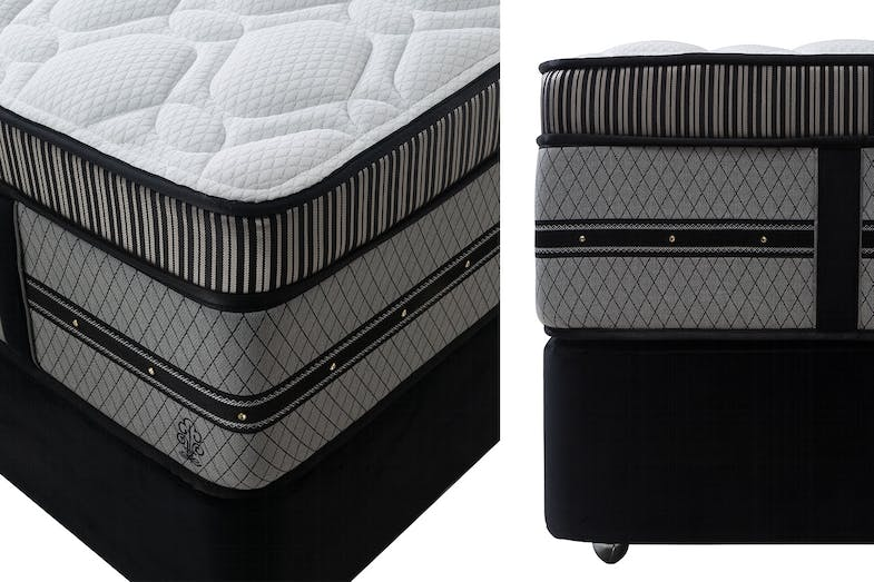 Empire Firm Queen Bed by Beautyrest Black