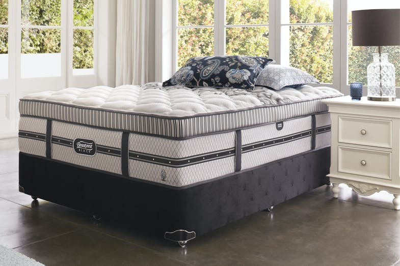Empire Medium Queen Bed by Beautyrest Black
