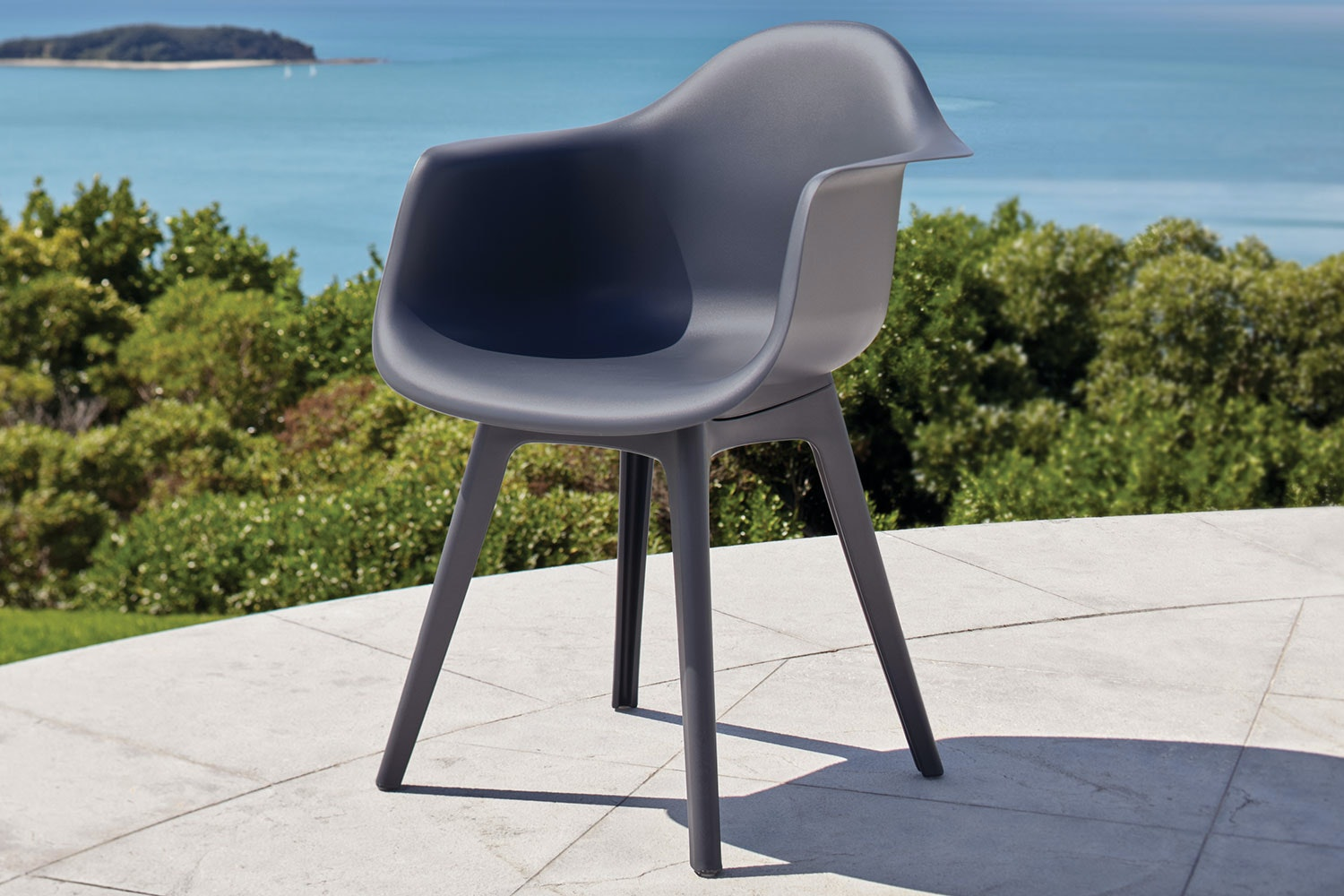 Floret Outdoor Dining Chair - Gunmetal
