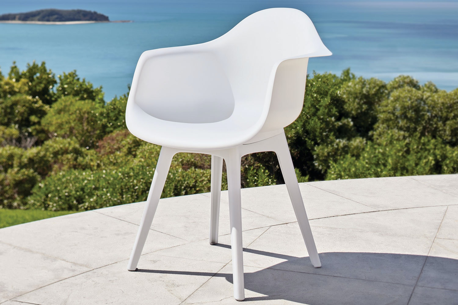 Floret Outdoor Dining Chair - White